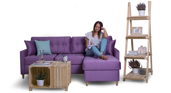 Practical corner sofa with sleeping function