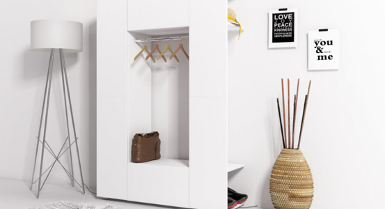 Practical wardrobe for a small apartment